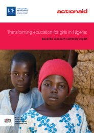 Transforming education for girls in Nigeria: - ActionAid International