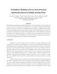 Probabilistic Modeling of Errors from Structural Optimization Based ...