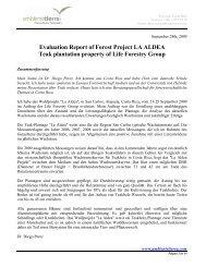 Evaluation Report of Forest Project LA ALDEA Teak plantation ...