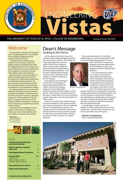Newsletter 5 - College of Engineering - University of Texas at El Paso