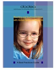 Reaching and Teaching Students with Autism Spectrum Disorders