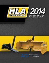 2012 HLA Attachments Catalog & Price List - ACI Distributors