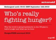 Who's Really Fighting Hunger - ActionAid