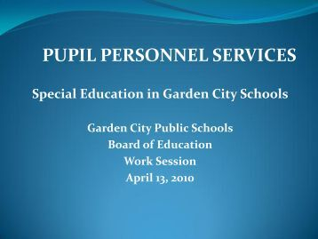 Special Education Update & RTI Presentation - April 2010