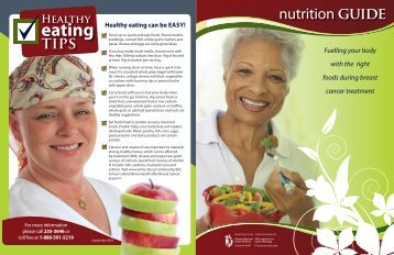 Fuelling your body with the right foods during breast cancer treatment