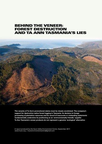 Behind the Veneer - Tasmanian Greens MPs