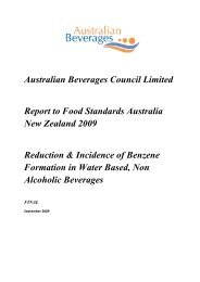 Reduction & Incidence of Benzene Formation in Water Based, Non ...