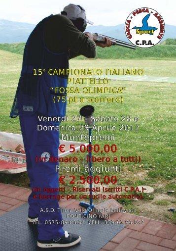 15 campionato italiano fossa olimpica - Caccia Pesca Ambiente