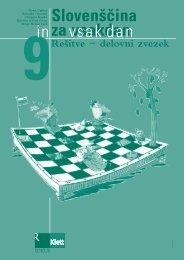 Slovenščina za vsakdan in vsak dan 9