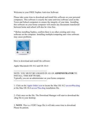 your FREE Sophos Antivirus Software - Franklin Public Schools
