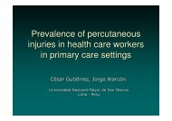Prevalence of percutaneous injuries in health care ... - Epi2008