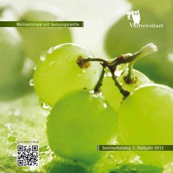 Weinseminare im 2. Halbjahr 2013 (PDF 2,1 MB)
