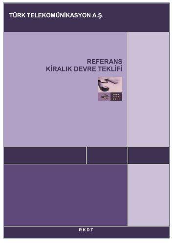 referans kiralık devre teklifi - Telekomünikasyon Kurumu