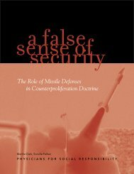 The Role of Missile Defenses in Counterproliferation Doctrine