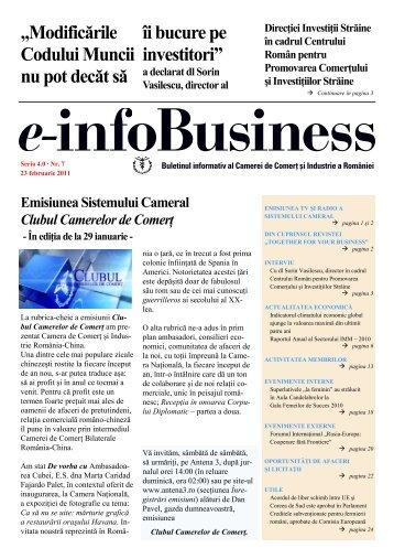 e-infoBusiness Bulletin No7-2011 - Camera de Comert si Industrie a ...