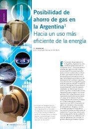 Posibilidades de ahorro de gas en Argentina - Física re-Creativa