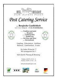 POST CATERING - Hotel Restaurant ''Zur alten Post'