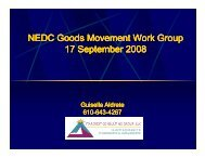 NEDC Good Movement Work Group - Northeast Diesel Collaborative