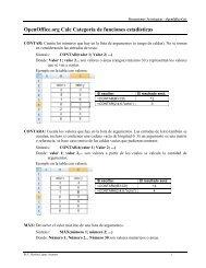 OpenOffice.org Calc Categoría de funciones estadísticas - UNPA