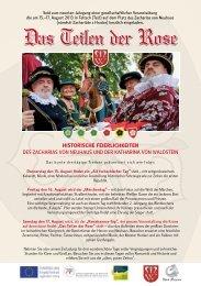 Plakat der historischen Feierlichkeiten - Telč