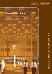 Management Report SHEDLIN M iddle East Health Care 1& 2