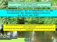 Wasserkraftnutzung und EU-Wasserrahmenrichtlinie