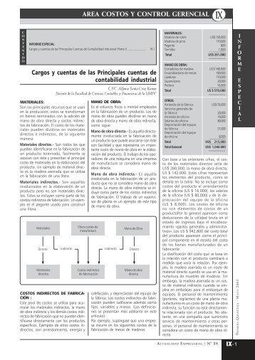 area costos y control gerencial - Revista Actualidad Empresarial
