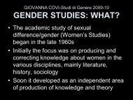gender studies - UNITN - FACOLTA' di LETTERE E FILOSOFIA ...