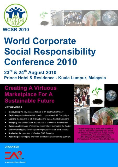 World Corporate Social Responsibility Conference 2010