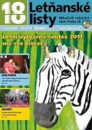 Letní výtvarná soutěž 2011 má své vítěze Letní ... - Letňanské listy