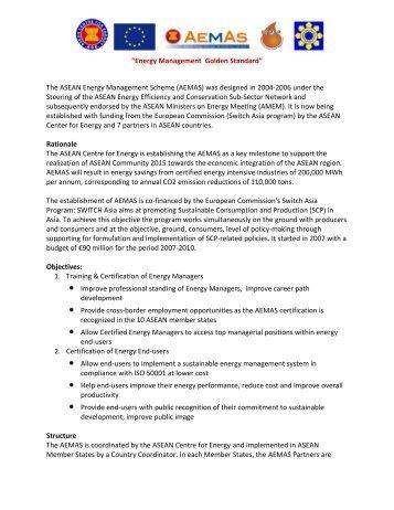 Energy Management Golden Standard - University of San Carlos