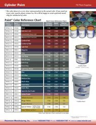 view our paint guide - Ratermann Manufacturing Inc