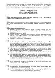 Jednací řád Vědecké rady - Národohospodářská fakulta
