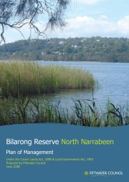 Bilarong Reserve Plan of Management - Pittwater Council - NSW ...