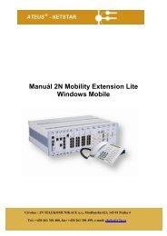 Uživatelský manuál pro Windows Mobile - 2N Telekomunikace a.s.
