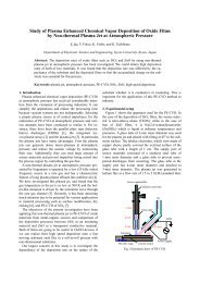 Study of Plasma Enhanced Chemical Vapor Deposition of Oxide ...