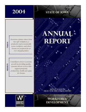Iowa Workforce Development 2004 Annual Report