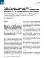 Toll-like Receptor 2 Signaling in CD4+ T Lymphocytes Promotes T ...