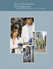 Year 2010 Annual Report - Iowa Workforce Development