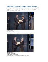2006-2007 Student Chapter Award Winners
