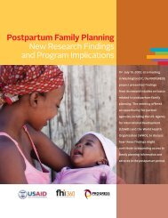 Postpartum Family Planning New Research Findings and Program ...