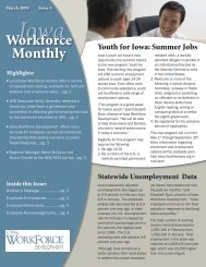 March 2009 - Issue 3 - Iowa Workforce Development