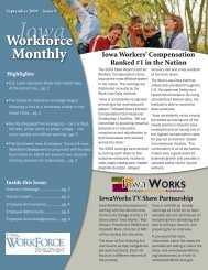 September 2009 - Issue 8 - Iowa Workforce Development