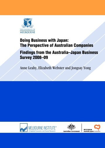 Doing Business with Japan - Intellectual Property Research Institute ...