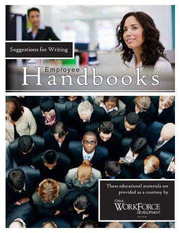 Suggestions for Writing Employee Handbooks - Iowa Workforce ...