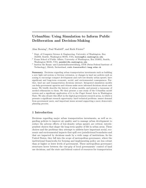 Using Simulation to Inform Public Deliberation and Decision-Making
