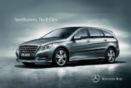 Specifications. The R - Class - Mercedes-Benz South Africa