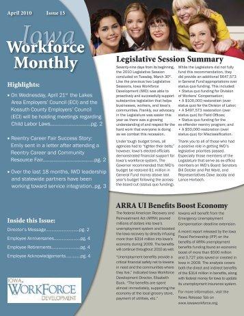 April 2010, Issue 15 - Iowa Workforce Development