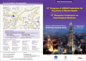 Uploaded on 10-6-2010 (English - pdf) - Malaysian Psychiatric ...