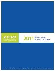 2011 Proxy Voting Guidelines - Shareholder Association for ...